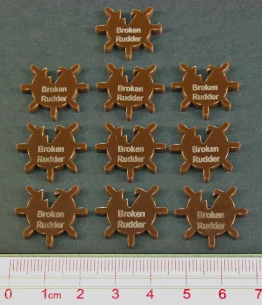Condition Markers: Broken Rudder Tokens (10)