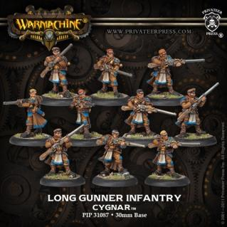 (Cygnar) Long Gunners Infantry