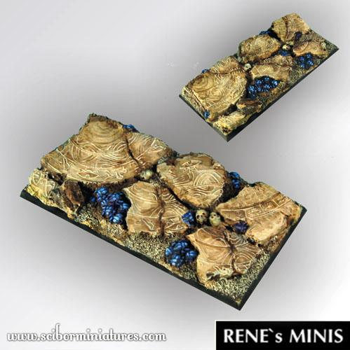 Square Bases: Egyptian Ruins 95 mm / 45mm square base