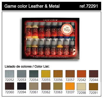 Game Color: Leather & Metal Paint Set (16)