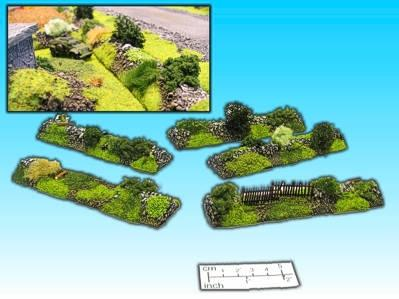 15mm Finished Terrain: Hedgerow Set