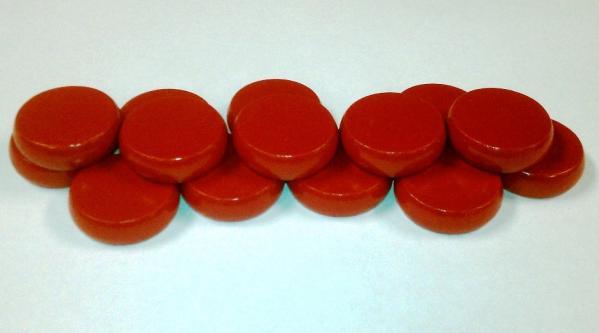 Red Premium Set of Crokinole Discs (14)