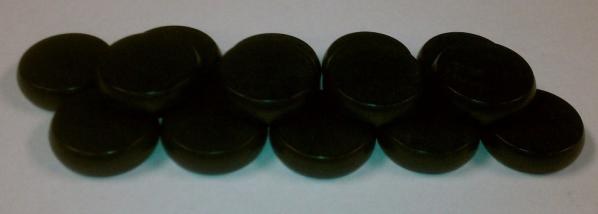 Black Premium Set of Crokinole Discs (14)
