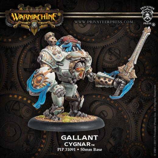 Warmachine: (Cygnar) Ally Gallant Heavy Warjack Character Upgrade Kit