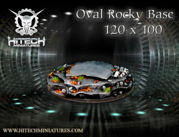 120x100mm Rocky, Oval