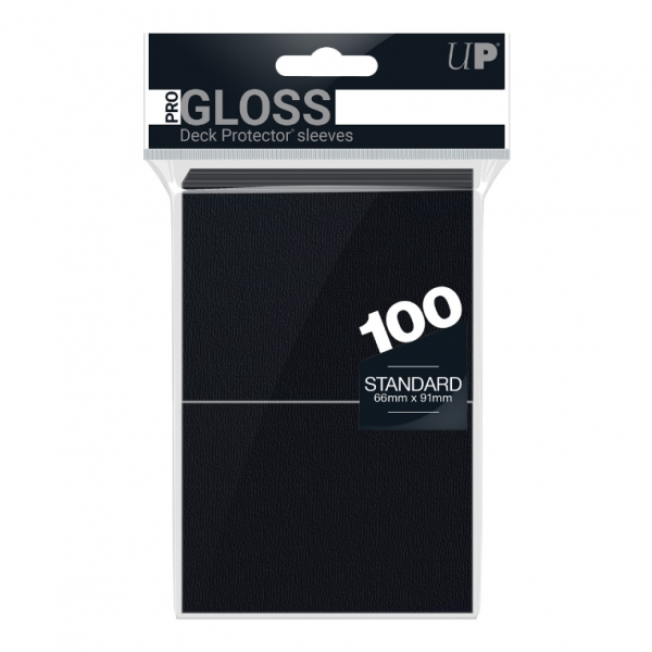 Ultra-Pro Sleeves: New Standard Black Deck Protectors (100)