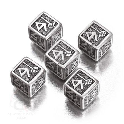 Exotic Dice Sets: Metal Dwarven d6 Dice