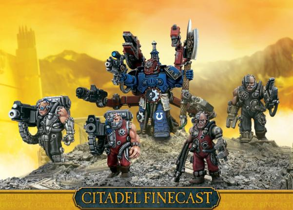 Citadel Finecast Resin: Techmarine With Servitors