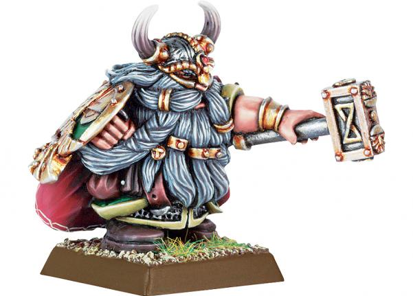 Citadel Finecast Resin: Dwarf Lord with Hammer & Shield