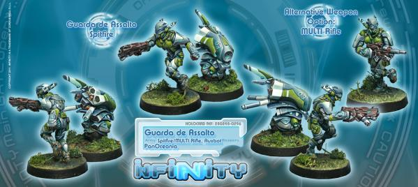 Infinity (#296) PanOceania: Guarda de Assalto (Spitfire/MULTI Rifle, Auxbot) (2)