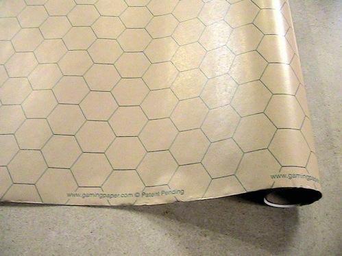 Gaming Paper (30'' wide x 12 feet long) [1-inch HEX] (1 Roll)
