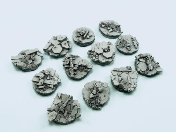 Battle Bases: Urban Fight Bases, Round 25mm (5)