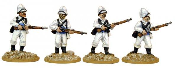 28mm March or Die: Legion in Sun Helmets (Advancing)