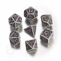 Celtic Dice: Gray & Black Celtic 3D Revised Dice Set (7)