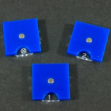 Steampunk Wars Fuel Token Dials (Opaque Blue)