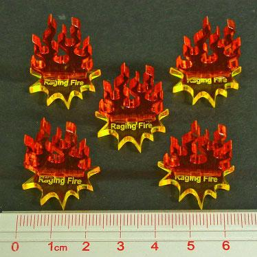 Steampunk Wars Raging Fire Markers