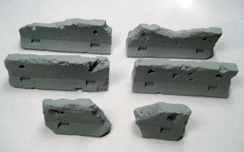 Terrain: Jersey Barriers, Damaged (5)
