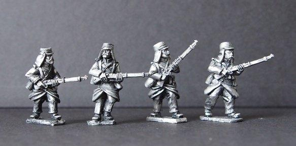 28mm March or Die: Legion in Greatcoats Advancing II