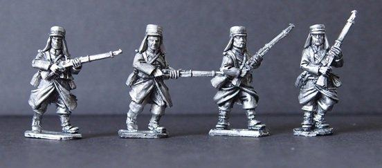 28mm March or Die: Legion in Greatcoats Advancing I