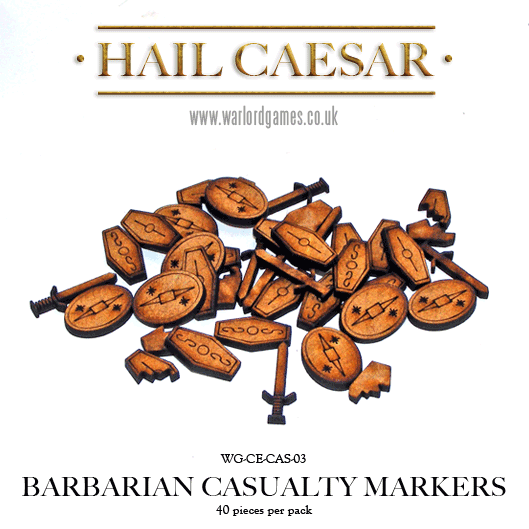 28mm Ancients - Celtics: Barbarian Casualty Markers (40 tokens)