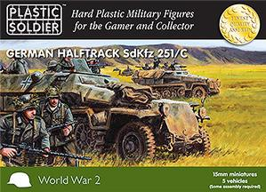 15mm WWII (German): Easy Assembly Sdkfz 251 Ausf C Half track