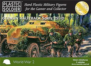 15mm WWII (German): Easy Assembly SdKfz 251/D Halftrack