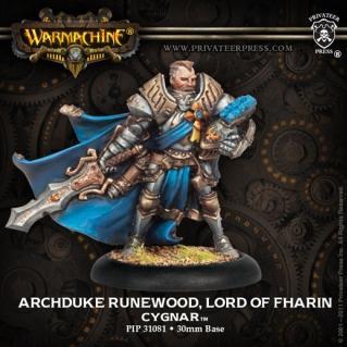 Warmachine: (Cygnar) Archduke Runewood