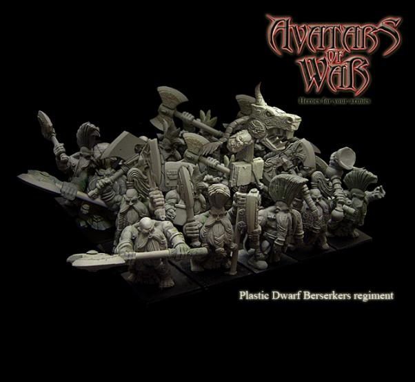 Avatars of War: Dwarf Berserkers Regiment Box (20)