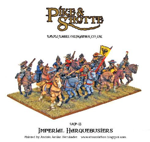 28mm Pike & Shotte: Imperial Harquebusiers (12)