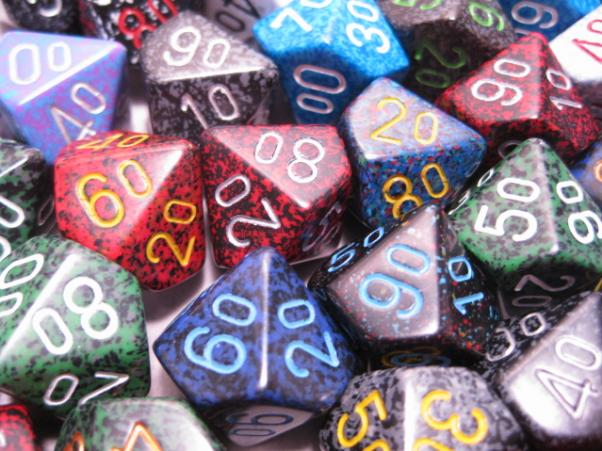 Chessex Bulk Dice Sets: Assorted Speckled Percentile d00 Bag (50)