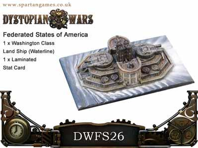 Dystopian Wars: (Federated States Of America) Washington Land Ship Waterlined (1)