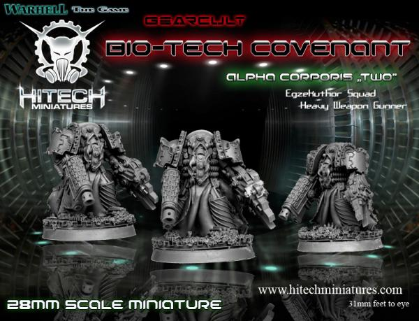 (Bio-Tech Covenant) Alpha Corporis Two, Gearcult Egzekuthor Squad Heavy Weapon Gunner