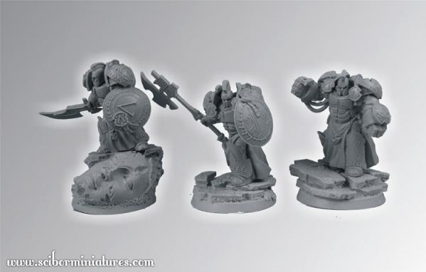 28mm Fantasy Miniatures: Spartan SF Warriors Set 1 (3)