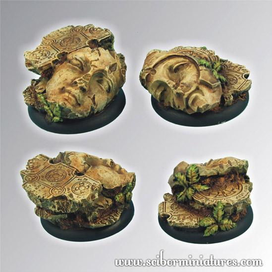 Round Bases: Ancient Ruins 40mm - Round Edge Set 2 (2)