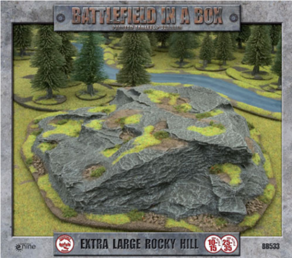 Battlefield in a Box: Extra Large Rocky Hill (x1) - 15mm/30mm