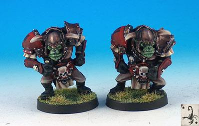 Fantasy Football Miniatures: Orc Blitzers