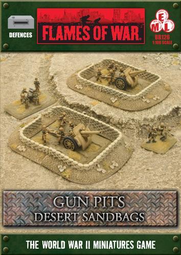 Battlefield in a Box: Desert Sandbags - Gun Pit Markers