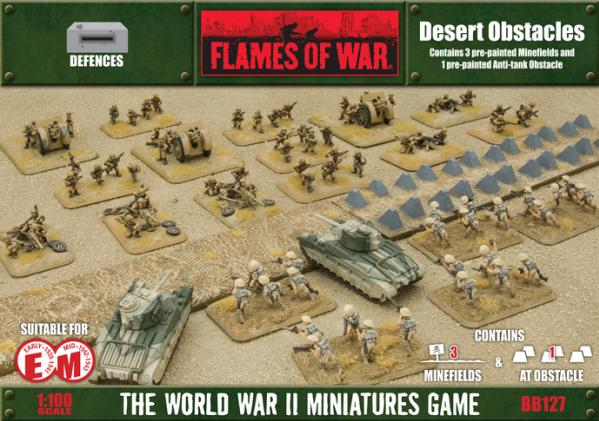 Battlefield in a Box: Desert Minefields and Anti-tank Obstacle
