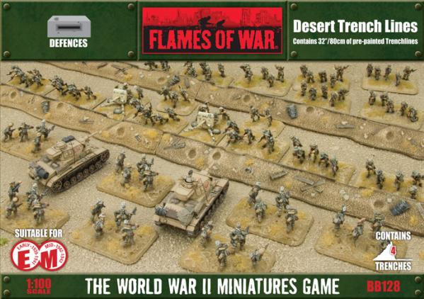 Battlefield in a Box: Desert Trench Lines