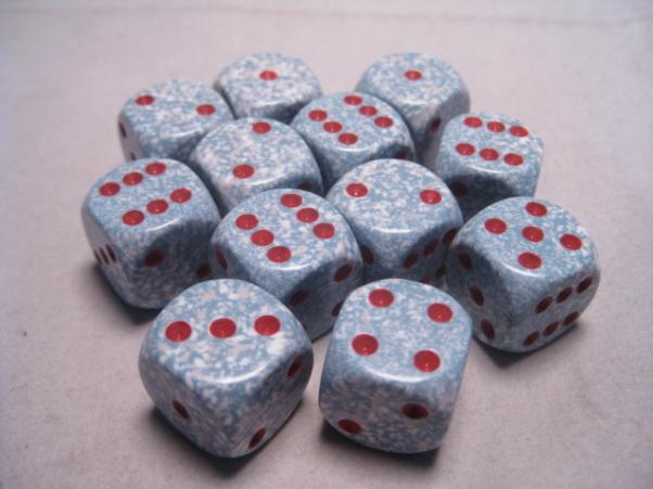 Chessex Dice Sets: Air Speckled 16mm d6 (12)