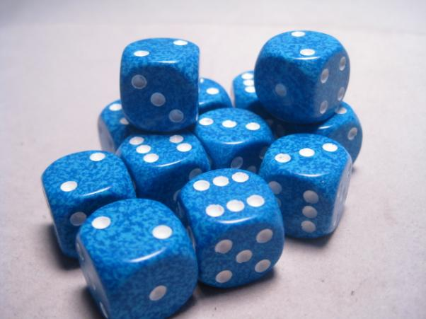 Chessex Dice Sets: Water Speckled 16mm d6 (12)