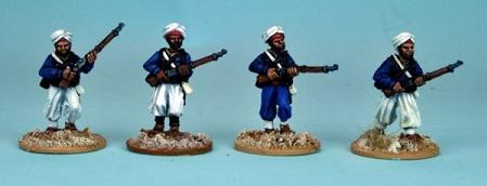 28mm March or Die: Tirraileur Algerien Advancing