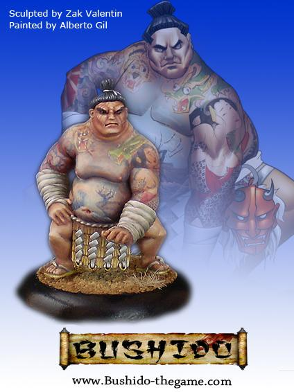 Bushido Miniatures: (Prefecture Of Ryu) Mikio, Jumo Wrestler