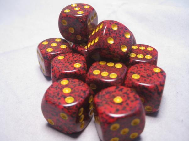 Chessex Dice Sets: Mercury Speckled 16mm d6 (12)