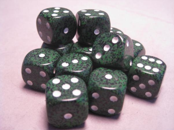 Chessex Dice Sets: Recon Speckled 16mm d6 (12)