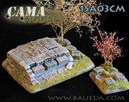 Cama Scenics (15mm WWII): Depot + Command Base (Rural)