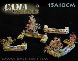 Cama Scenics (15mm WWII): Medium/Small Dug-In Markers (Rural)