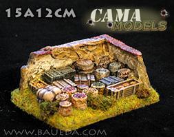 Cama Scenics (15mm WWII): Food Supply + Command Base