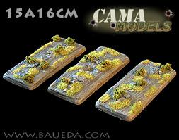 Cama Scenics (15mm WWII): Long Vehicle Scenic Bases