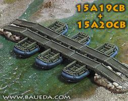 Cama Scenics (15mm WWII): M2 Modular Pontoon Bridge